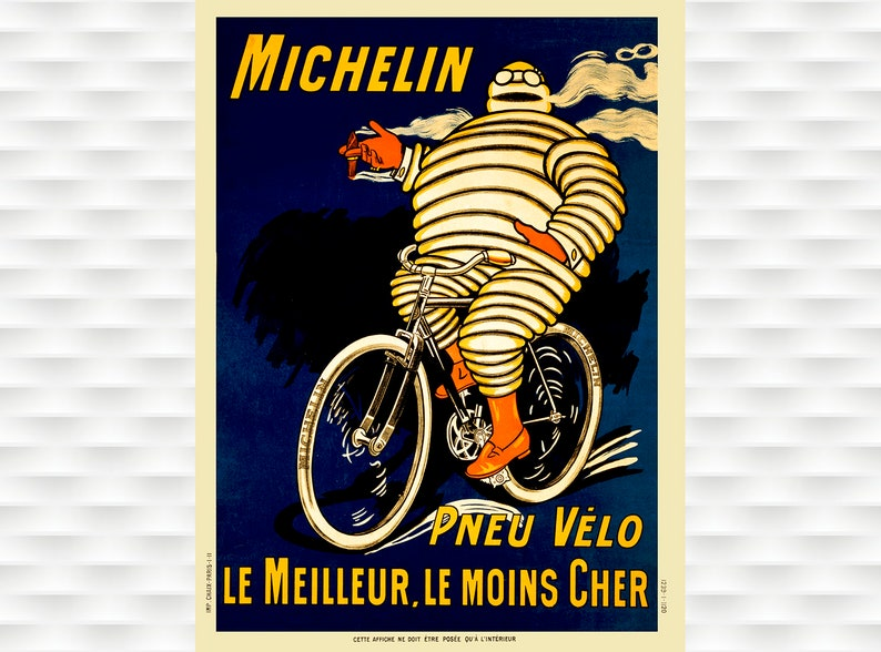 1903 SPORT MOTORCYCLE BIKE CYCLE RACE CLUB FRANCE PARIS VINTAGE POSTER REPRO