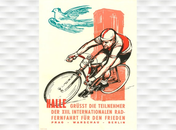 1960 Peace Race Cycling Poster A3//A4 Print