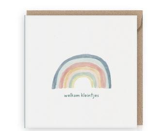Welkom little ones, green, greeting card