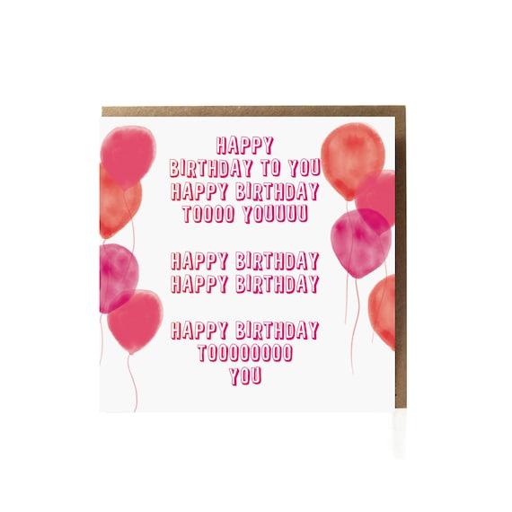 Happy Birthday Greeting Card Funny Birthday Card Fun Card Birthday Friend Card Best Friend Birthday Girlfriend Birthday For Him