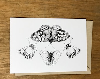 Butterflies - Black&White