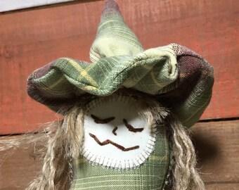 primitive art doll - primitive kitchen witch doll - witch make do - primitive make do doll - kitchen witch - folk art doll - witch art doll