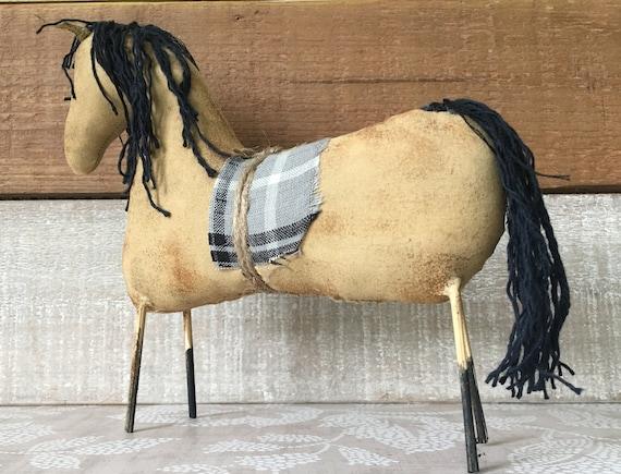Handmade Primitive Buckskin Horse Buckskin Horse Horse Decor Primitive Horse
