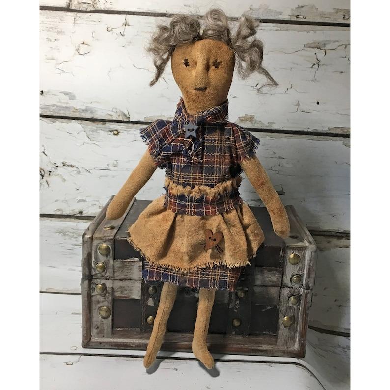 Small Primitive Grungy Ragamuffin Rag Doll /  Primitive Dolls image 0
