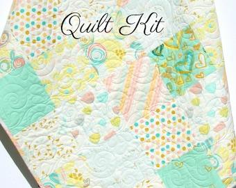 Diy kit blanket etsy quick view watercolor floral quilt kit nursery crib blanket diy solutioingenieria Images