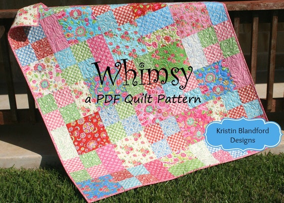 Layer Cake Quilt Pattern Whimsy Moda Baby Quilt And Throw Etsy