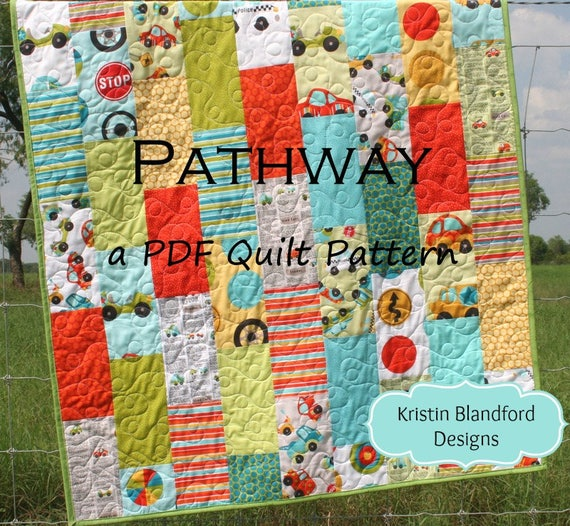 Quilt Pattern Pathway Layer Cake Baby Quilt And Throw Size Etsy