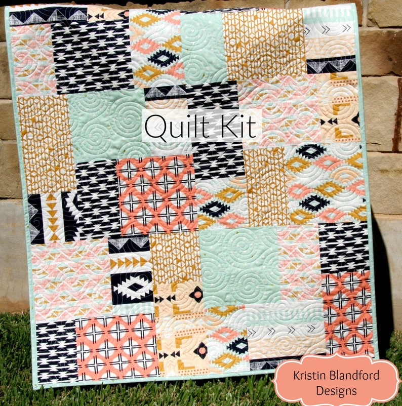 a22f09d3972a2 Arizona Quilt Kit Tribal Baby Bedding Blanket Project April | Etsy