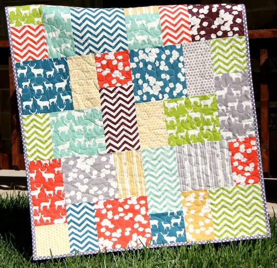 Big Block Quilt Pattern Big And Tall Fat Quarter Friendly Etsy