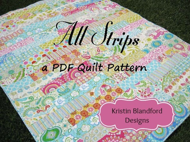 Strip Quilt Pattern All Strips Fat Quarters Striped Easy Etsy