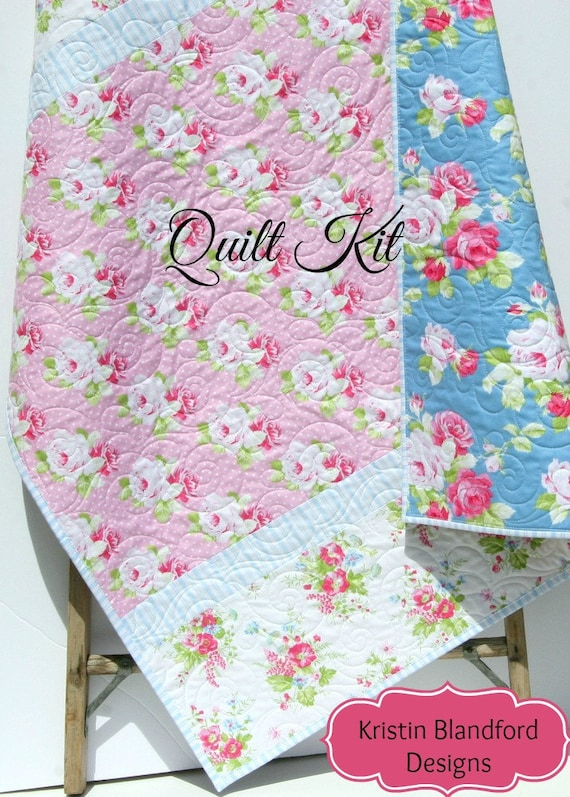 Baby quilt kit diy do it yourself project sadies dance etsy image 0 solutioingenieria Gallery