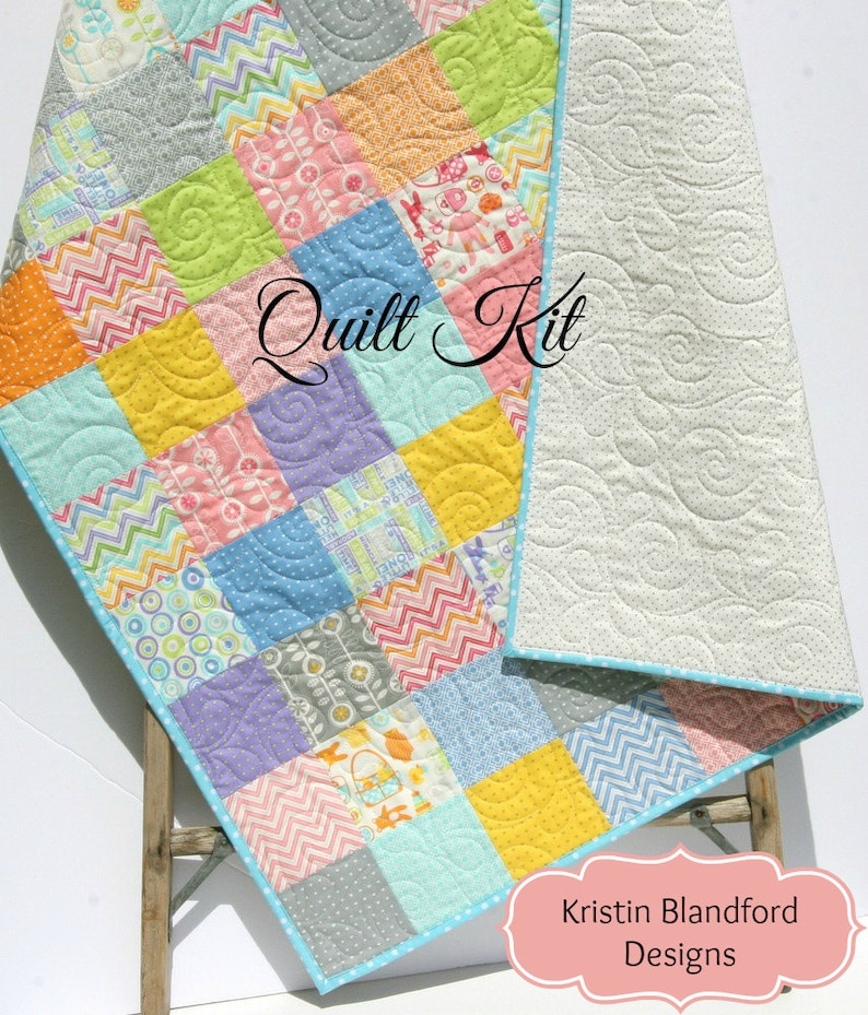 Sale Baby Quilt Kit Precut Charm Pack Quilt Kit Quilting Etsy