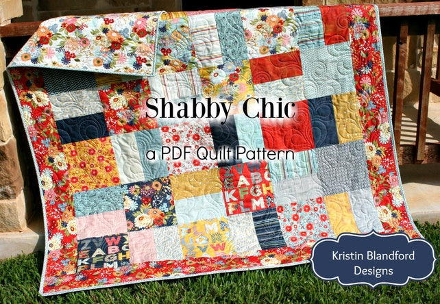 Layer Cake Quilt Pattern Shabby Chic Charm Pack Moda Fabric Etsy