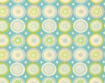 SALE Kumari Garden Lalit DF94 Blue Free Spirit Westminster Fabrics Flowers Yellow Grey Gray Blue Dena Designs