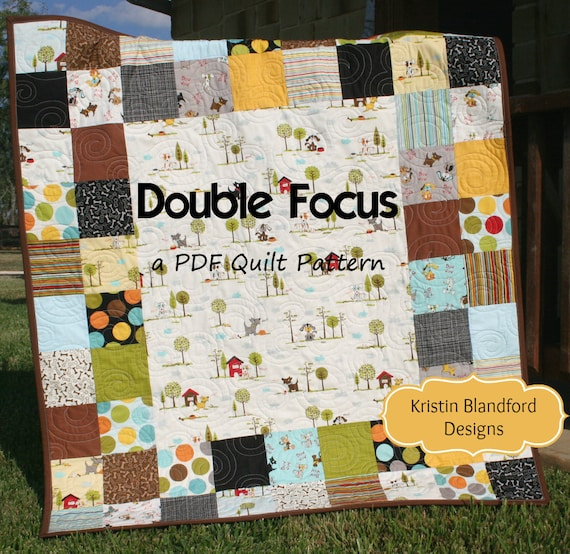 PDF Quilt Pattern Charm Pack Panel Fabric Double Focus Moda Etsy Cool Moda Quilt Patterns