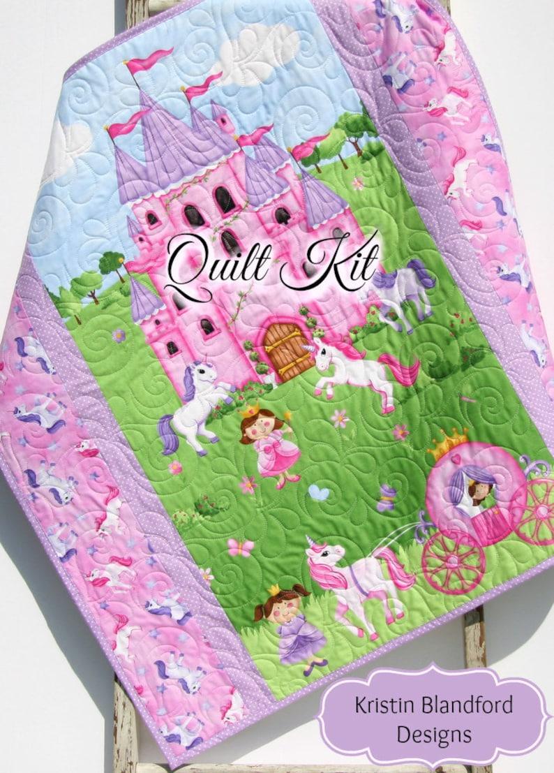 Kleine Prinzessin Quilt Kit Einhorn Bettwäsche Panel Etsy