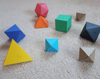 3D polyhedra geometric shapes