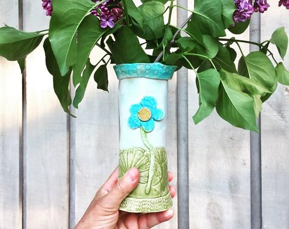 Flower Vase, Ceramic Vase, Pottery Vase, Pastel Vase, handmade Vase, Small vase,