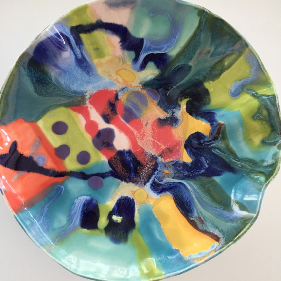 Art Plate, Abstract Design, Clay Painting, Shallow Bowl, abstract art, Abstract Ceramics, Ceramic Plate, Ceramic Bowl, modern ceramics