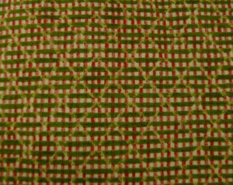 Benartex Fabric, 12 Days of Xmas, Plaid, Green and Red
