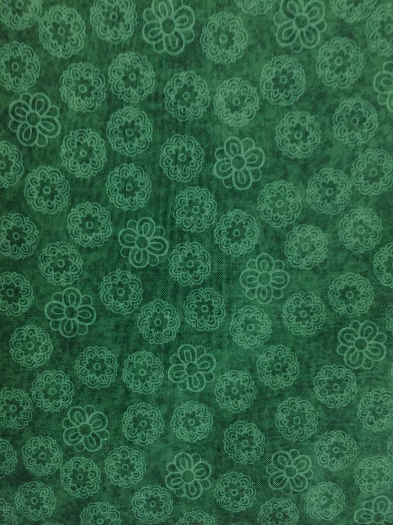 Rjr Fabric Pavilion 6159 Dark Green Floral Etsy