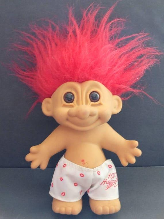 "100/% HUGGABLE BOY IN BOXER SHORTS 5/"" Russ Troll Doll NEW IN ORIGINAL BAG"