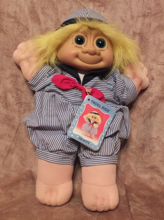 """SKIPPY IN SAILOR SUIT 12/"""" Russ Troll Doll Kidz NEW STORE STOCK Rare"""
