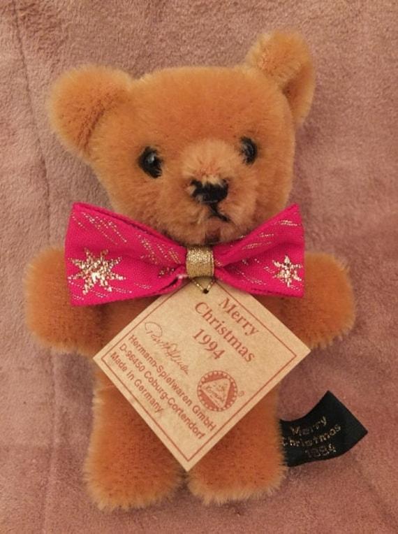 Christmas Bear.Hermann Spielwaren 1994 Christmas Teddy Bear Pin