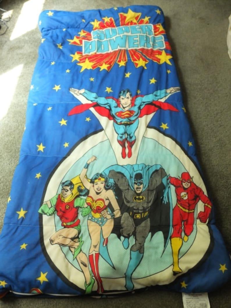 new concept 96ead e8342 DC Comic Super Power Superman Batman Robin Wonder Woman The Flash Slumber  Bag