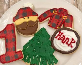 Lumberjack Gourmet Sugar Cookies Custom Made to your liking FREE SHIPPING!