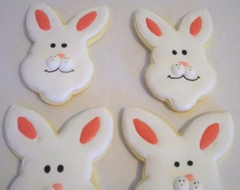 Easter Bunny Cookies, Easter Desserts, Easter Party Favors, Easter, Easter Baskets, Easter Gifts, Kids Easter Baskets, Bunny Cookies, Cookie