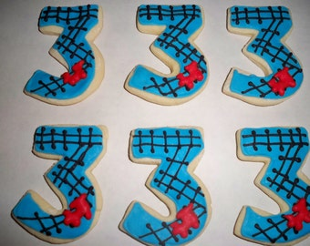 Train Themed Number/ Letter Sugar Cookies