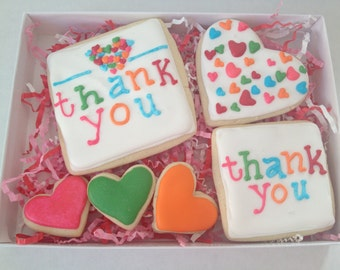 Thank You Cookie Gift Set, sugar cookies, cookies, thank you gift, staff appreciation gift, teacher thank you, employee appreciation gift
