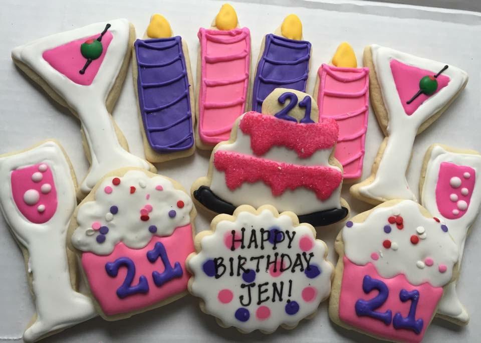 21st Birthday Sugar Cookies Gift