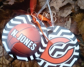 CHEVRON Basketball Bag Luggage Tags Personlaized for your Team other sports avail too.