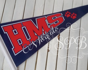Custom Felt Pennants Personalized for schools and or speical events sports