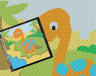 Dino Crochet Blanket Etsy