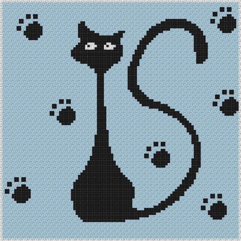 Whimsey Cat 001 Blanket C2C Crochet Pattern/Chart/Graph PLUS FREE Written  Patterns