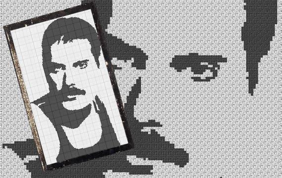 Freddie Mercury Tribute C2c Häkelanleitungen Etsy