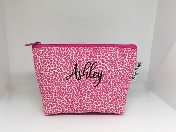 400a23aea622 Small Monogram Cosmetic Pouch Leopard Hot Pink Clear