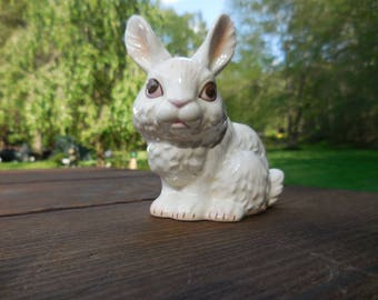 M.I.Hummel Ceramic Goebel bunny rabbit figurines West Germany porcelain rabbit figurine Vintage Geobel figurine Boxing bunny rabbit.