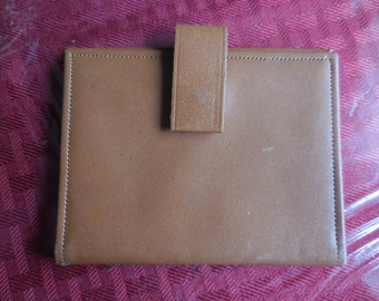 Buxton card holder etsy vintage light brown buxton credit cardbusiness card holder 1950s to 1970s top grain cowhide id holder small unisex nos retro colourmoves