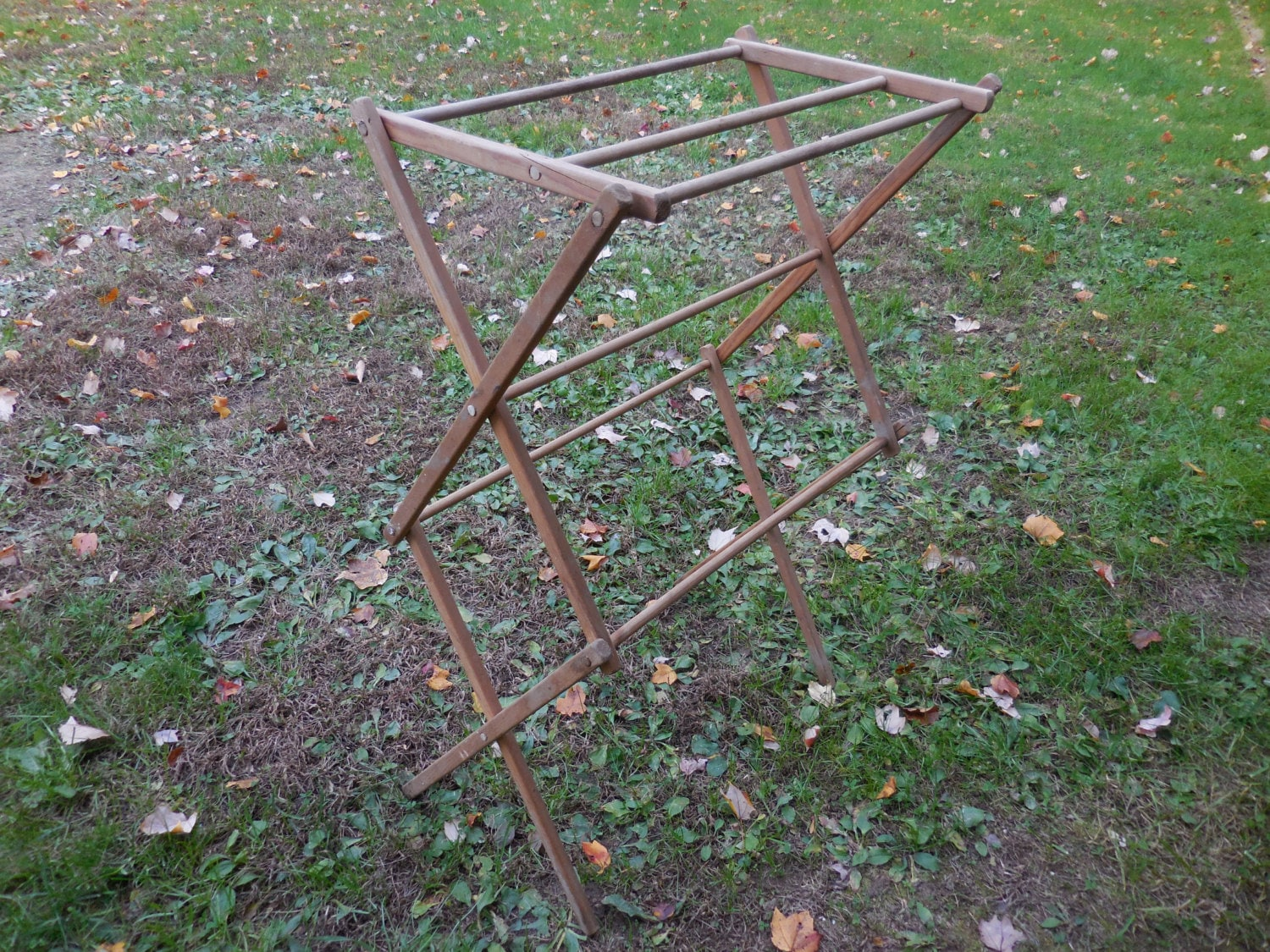 Vintage 1920s To 1940s Wood Clothing Dryer Drying Rack