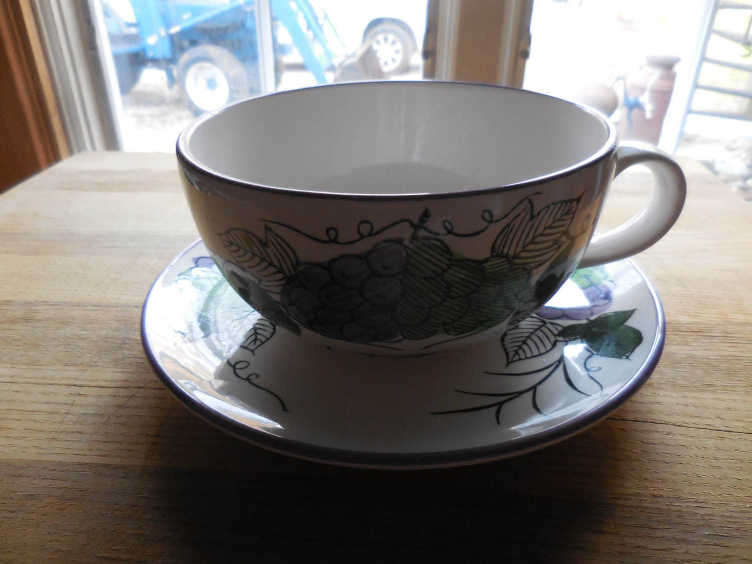 Vintage 1960s to 1970s Huge/Large Cup and Saucer White ...
