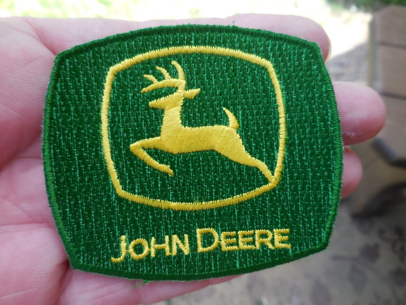 John Deere green pierced post earrings NIB