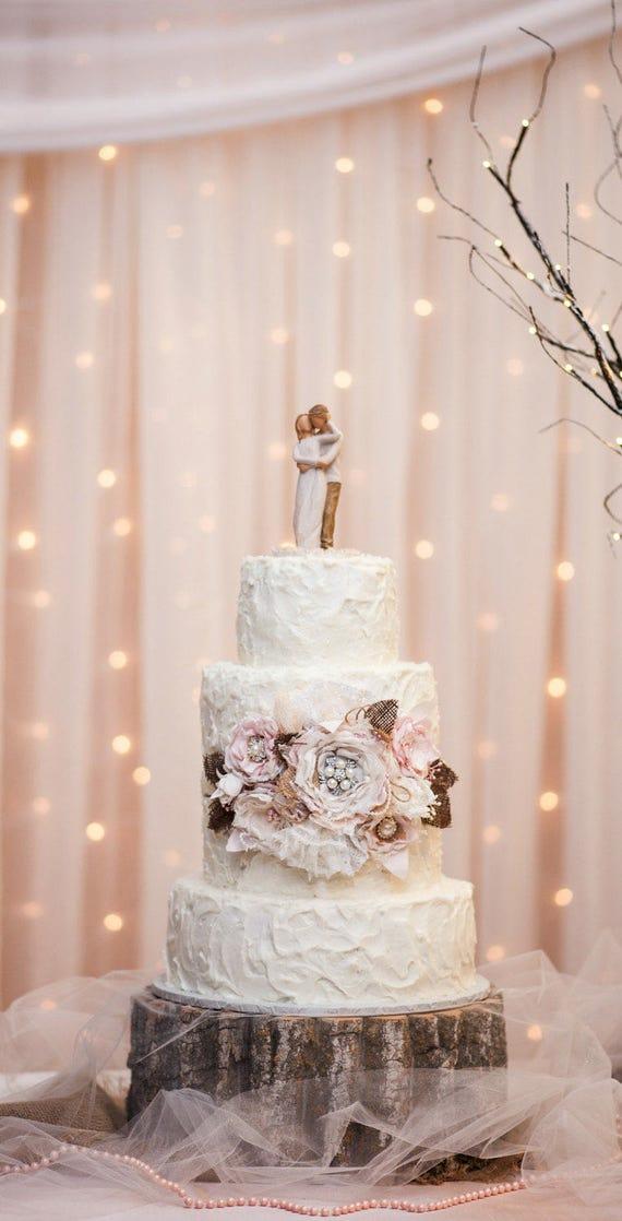 Wedding Cake Sash Rustic Cake Decorations Burlap Cake Etsy