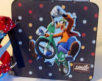 Disney mini album premade pages chipboard scrapbook Mickey Mouse goofy vacation birthday