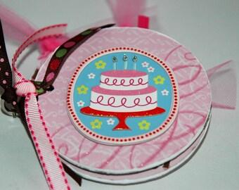 Birthday scrapbook Premade pages chipboard mini album- 4x4 cupcake