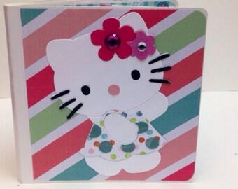 Hello Kitty scrapbook premade pages chipboard scrapbook mini album  birthday