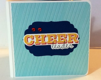 Cheerleading scrapbook chipboard premade pages  mini album brag book love to cheer